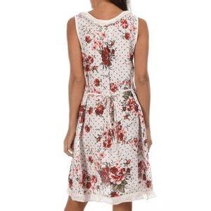 Merveilleux Couleur Lin Dresses   Couleur Lin Floral Print Linen Dress, EU 38, US 6